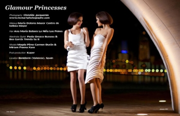 Estilismo de moda en la editorial 'Night princesses' publicada en la revista Fashion Chicago Magazine[enero 2012].