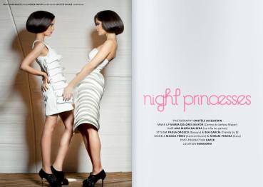 Estilismo de moda en la editorial 'Night princesses' publicada en la revista Lanne Magazine [enero 2012].