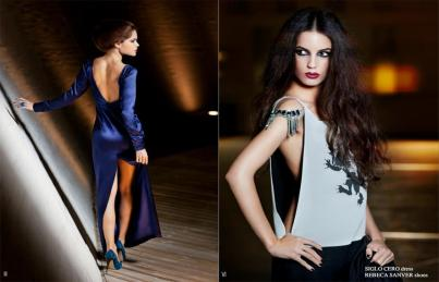 Estilismo de moda en la editorial 'Night princesses' publicada en la revista Luxsure Magazine[marzo-abril 2012].
