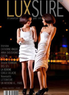 Portada en la editorial 'Night princesses' publicada en la revista Luxsure Magazine[marzo-abril 2012].
