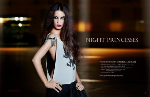 Estilismo de moda en la editorial 'Night princesses' publicada en la revista W25 Magazine.