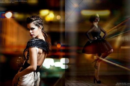 Estilismo de moda en la editorial 'Night princesses' publicada en la revista Zone Magazine [febrero 2012].