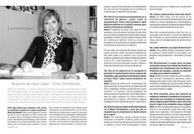 Entrevista a Chelo Ferrándiz en la revista Vivir Aquí de San Juan [Alicante, 2011].