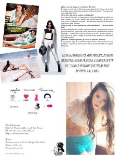 Entrevista a la modelo Magda Pérez en el número 0 de la revista BCULTURE [junio-julio 2012].
