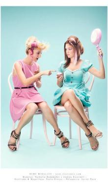 Estilismo de moda en el catálogo de Huran Shoes [verano 2012].