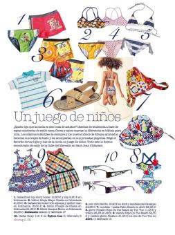 Texto en el shopping de moda baño para niños de la revista Vivir Aquí de San Juan [Alicante, 2011].