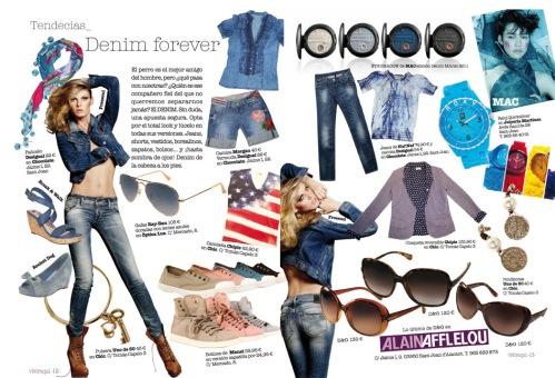 Texto en el shopping especial denim de la revista Vivir Aquí de San Juan [Alicante, 2011].