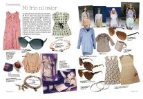 Texto en el shopping de tendencias de moda de primavera de la revista Vivir Aquí de San Juan [Alicante, 2011].